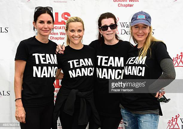 Actors Courteney Cox Reese Witherspoon Nanci Ryder Renée Zellweger attend the Nanci Ryder's Team Nanci At The 13th Annual LA County Walk To Defeat...