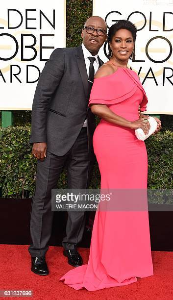 Actors Courtney B Vance and Angela Bassett arrive at the 74th annual Golden Globe Awards January 8 at the Beverly Hilton Hotel in Beverly Hills...
