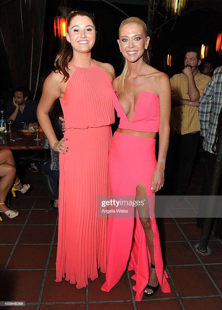 Actors Courtney Baxter and Tara Reid attend the premiere after party of The Asylum & Fathom Events' 'Sharknado 2: The Second One' at Figueroa Hotel on August 21, 2014 in Los Angeles, California.