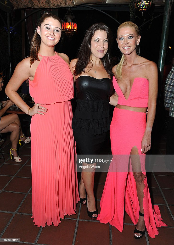Actors Courtney Baxter, Tiffany Shepis and Tara Reid attend the premiere after party of The Asylum & Fathom Events' 'Sharknado 2: The Second One' at Figueroa Hotel on August 21, 2014 in Los Angeles, California.