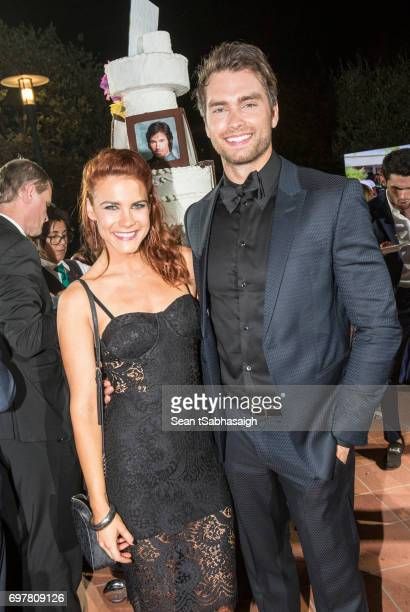 Actors Courtney Hope and Pierson Fode attend the 'The Bold and The Beautiful' 30th Anniversary Party during the 57th Monte Carlo TV Festival Day 3 on...