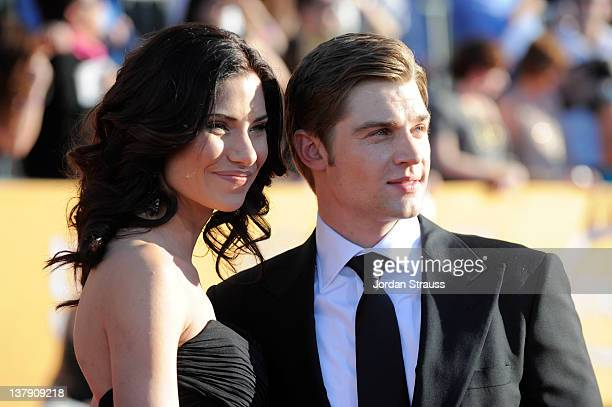 Actors Courtney Vogel and Mike Vogel arrive at The 18th Annual Screen Actors Guild Awards broadcast on TNT/TBS at The Shrine Auditorium on January 29...
