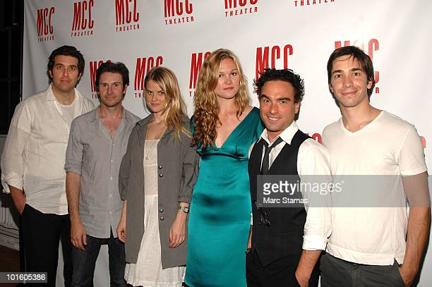 "Actors Craig Bierko, Josh Hamiliton, Alice Eve, Julia Stiles, Johnny Galecki and Justin Long attend the opening night party for ""Filthy Talk For..."