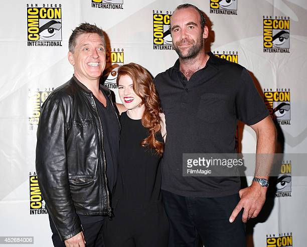 Actors Craig Ferguson Rose Leslie and Rory McCann attend HBO's 'Game of Thrones' Panel during ComicCon 2014 on July 25 2014 in San Diego California