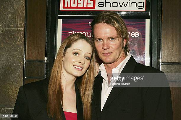 Actors Craig McLachlan and Miranda Otto at the media launch of Channel 7's upcoming miniseries 'Through My Eyes' Fox Studios on October 20 2004 in...