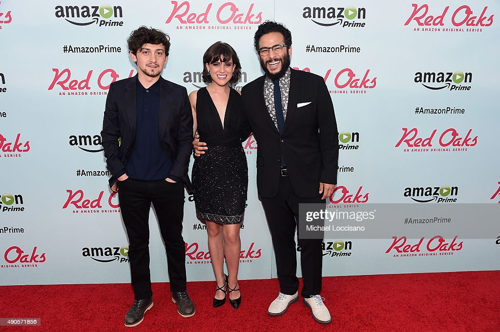 Actors Craig Roberts, Alexandra Socha and Ennis Esmer attend the Amazon red carpet premiere for the brand new original comedy series 'Red Oaks' on September 29, 2015 in New York City.