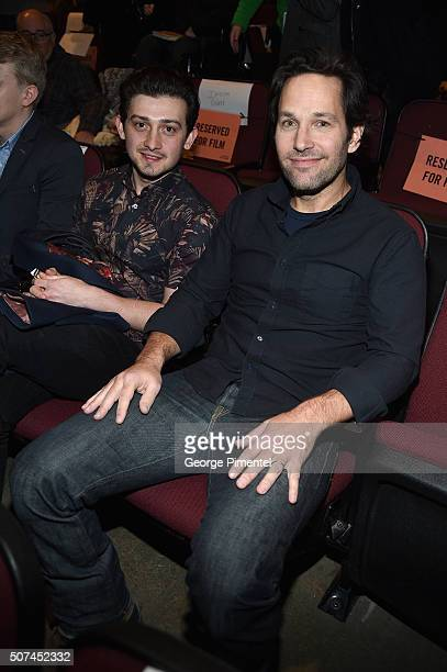 Actors Craig Roberts and Paul Rudd attend 'The Fundamentals Of Caring' Premiere during the 2016 Sundance Film Festival at Eccles Center Theatre on...