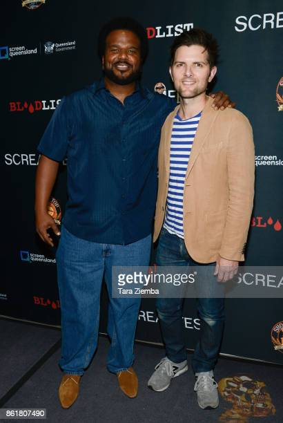 Actors Craig Robinson and Adam Scott attend the 2017 Screamfest Horror Film Festival at TCL Chinese 6 Theatres on October 15 2017 in Hollywood...