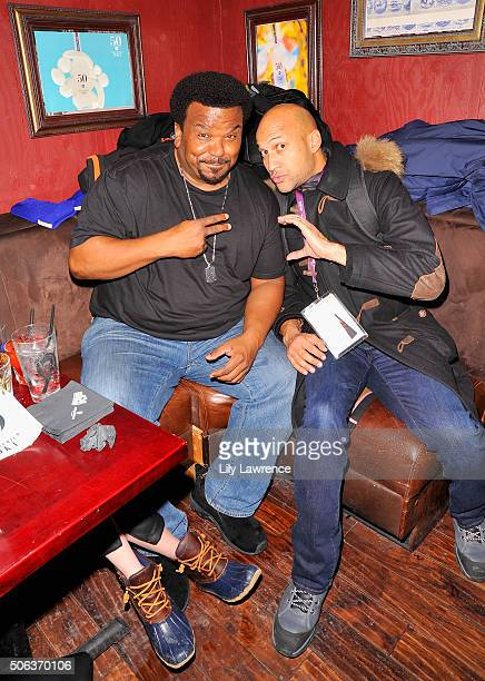Actors Craig Robinson and KeeganMichael Key attend the The Official 'Morris From America' After Party at Bar 53 at Rock Reilly's and 50 Bleu Lounge...