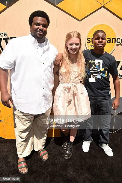 Actors Craig Robinson Lina Keller and Markees Christmas attend the 'Morris From America' premiere and Youth Talent Show during Sundance NEXT FEST at...