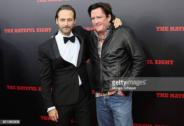 Actors Craig Stark and Michael Madsen attend the The New York Premiere Of 'The Hateful Eight' on December 14 2015 in New York City