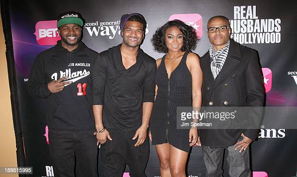 Actors Craig Wayans Damien Dante Wayans Tatyana Ali and George O Gore II attend the Real Husbands Of Hollywood Second Generation Wayans screening at...