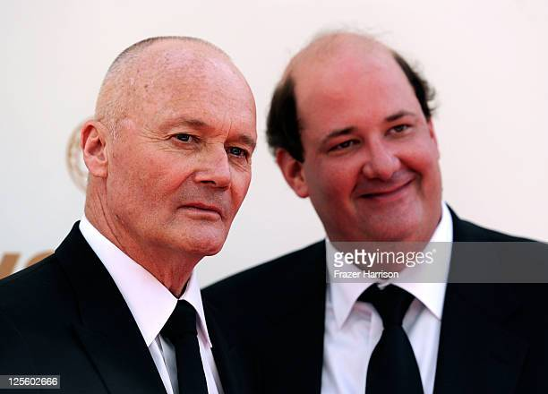 Actors Creed Bratton and Brian Baumgartner arrive at the 63rd Annual Primetime Emmy Awards held at Nokia Theatre L.A. LIVE on September 18, 2011 in...
