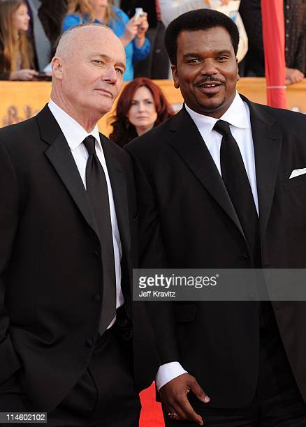 Actors Creed Bratton and Craig Robinson arrive to the 16th Annual Screen Actors Guild Awards held at The Shrine Auditorium on January 23, 2010 in Los...
