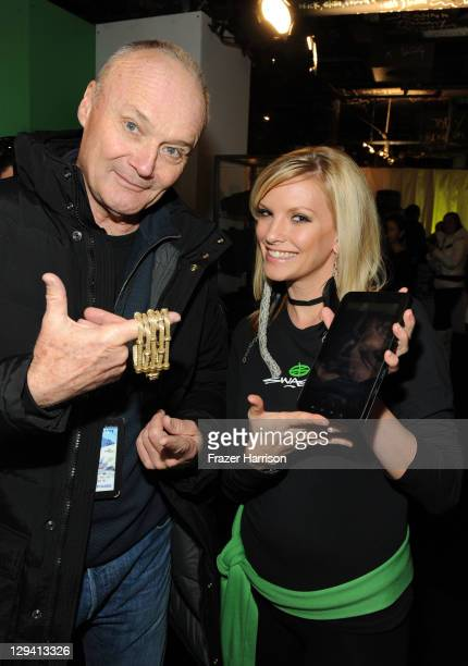 Actors Creed Bratton flashing new lia sophia bling and Jessica Colette checking out the new Samsung Galaxy Tab at the Samsung Galaxy Tab Lift on...