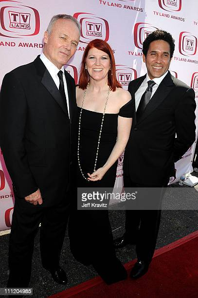 """Actors Creed Bratton, Kate Flannery and Oscar Nunez of """"The Office"""" arrive at the 6th Annual """"TV Land Awards"""" held at Barker Hangar on June 8, 2008..."""