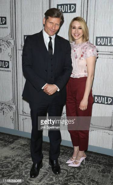 """Actors Crispin Glover and Taissa Farmiga attend the Build Series to discuss """"We Have Always Lived in the Castle"""" at Build Studio on May 09, 2019 in..."""