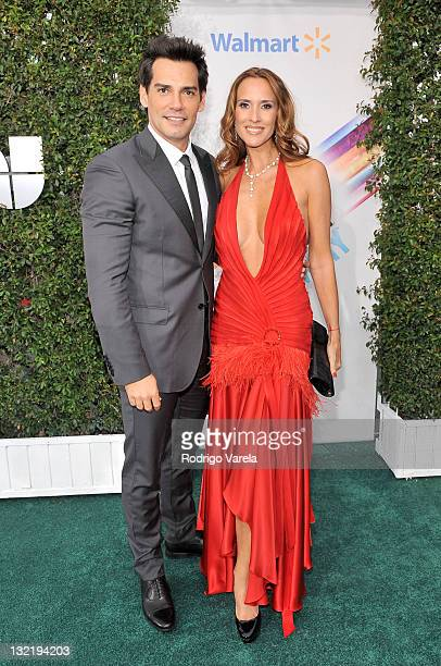 Actors Cristian de la Fuente and Angelica Castro arrive at the 12th Annual Latin GRAMMY Awards held at the Mandalay Bay Resort Casino on November 10...