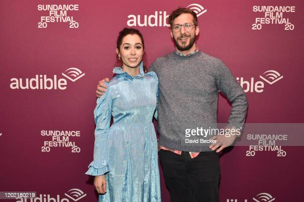 """Actors Cristin Milioti and Andy Samberg attend the """"Palm Springs"""" premiere party at Audible Speakeasy during the 2020 Sundance Film Festival on..."""