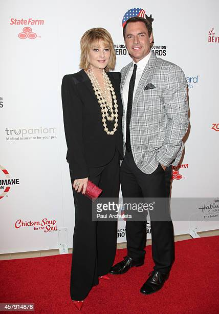 Actors Cristina Ferrare and Mark Steines attend the 4th annual American Humane Association Hero Dog Awards at The Beverly Hilton Hotel on September...