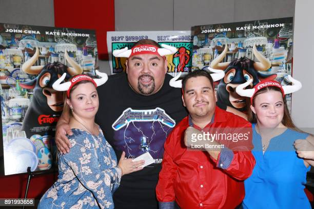 Actors Cristina Sanz Gabriel Iglesias Angel Callahan and Caley Versfelt attend the Best Buddies Hosts Private Screening And Cast Meet And Greet Of...