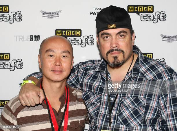 Actors C.S. Lee and David Zayas attends Day 3 of the WIRED Cafe at Comic-Con 2010 held at the Omni Hotel on July 24, 2010 in San Diego, California.