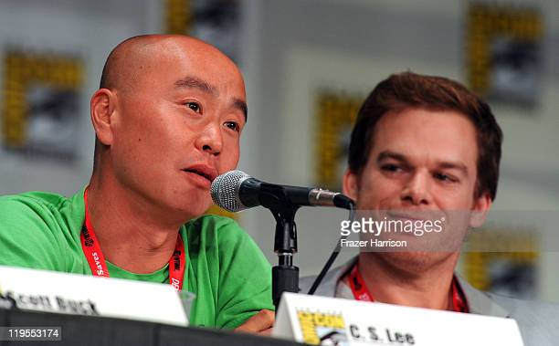Actors CS Lee and Michael C Hall speak at Showtime Tired of Ordinary Television New Season Preview at the San Diego Convention Center on July 21 2011...