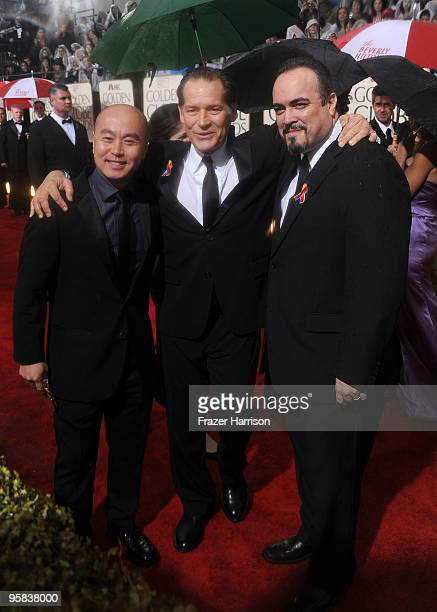 Actors CS Lee James Remar and David Zayas arrives at the 67th Annual Golden Globe Awards held at The Beverly Hilton Hotel on January 17 2010 in...