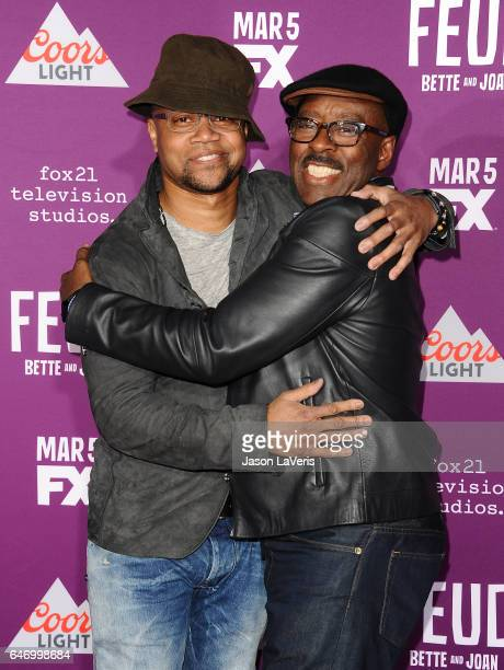 Actors Cuba Gooding Jr and Courtney B Vance attend the premiere of 'Feud Bette and Joan' at TCL Chinese Theatre on March 1 2017 in Hollywood...
