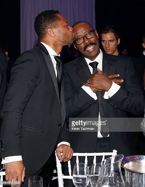 Actors Cuba Gooding Jr and Courtney Vance attend the amfAR Inspiration Gala at Milk Studios on October 29 2015 in Hollywood California