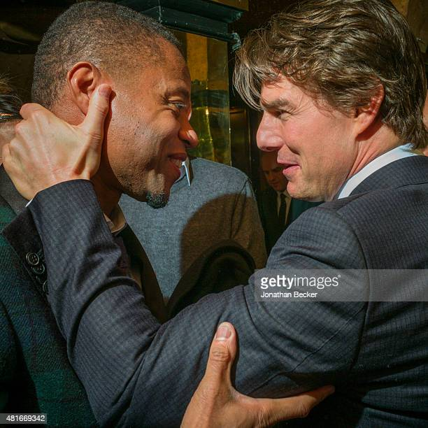 Actors Cuba Gooding Jr and Tom Cruise are photographed at the Charles Finch and Chanel's PreBAFTA on February 7 2015 in London England PUBLISHED IMAGE