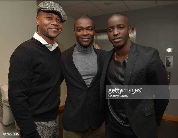 Actors Cuba Gooding Jr David Oyelowo and Elijah Kelley attend A Special Screening Of Lee Daniels' The Butler Hosted by Denzel Washington and...
