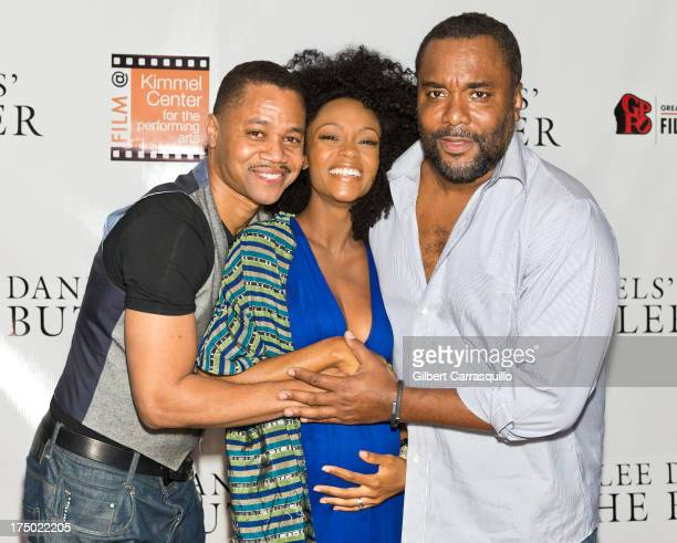 Actors Cuba Gooding Jr Yaya DaCosta and director Lee Daniels attend a red carpet screening of The Butler at the Perelman Theater at Kimmel Center for...