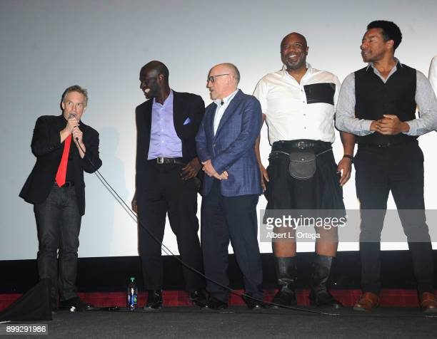 Actors Curtis Fortier Herman Wilkins Armin Shimerman Darnell Davis and Rico E Anderson participate in the QA at the Cast And Crew Screening Of 5th...