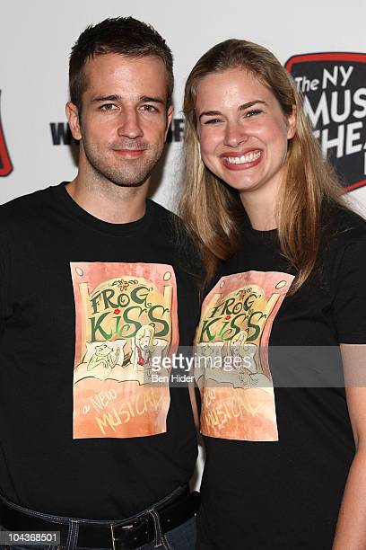 Actors Curtis Holbrook and Hanley Smith attend the New York Musical Theatre Festival 2010 musicals preview at New World Stages on September 22 2010...