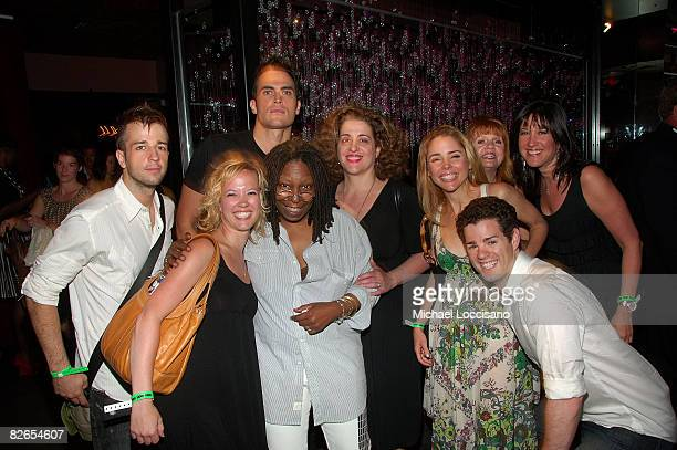 Actors Curtis Holbrook Patti Murin Cheyenne Jackson Whoopi Goldberg Mary Testa Kerry Butler Jacob Ben Widmar Annie Golden and guest attend the...