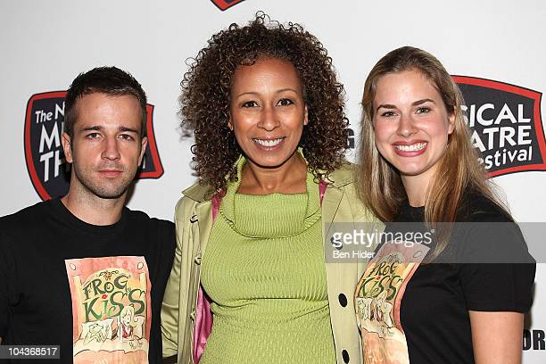 Actors Curtis Holbrook Tamara Tunie and Hanley Smith attend the New York Musical Theatre Festival 2010 musicals preview at New World Stages on...