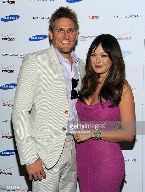 Actors Curtis Stone and Lindsay Price attend the DROID Charge by Samsung Kentucky Derby viewing party hosted by Samsung and Verizon at Palihouse...