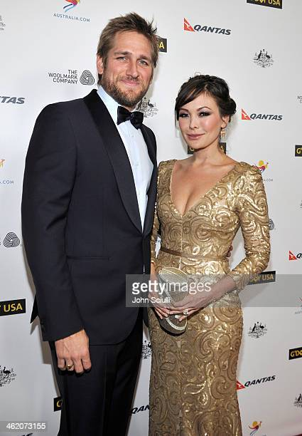 Actors Curtis Stone and Lindsay Price attend the G'Day USA Los Angeles Black Tie Gala at JW Marriott Hotel at LA LIVE on January 11 2014 in Los...