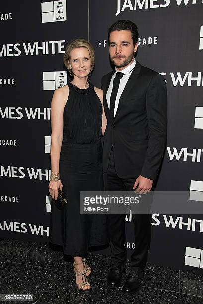 Actors Cynthia Nixon and Christopher Abbott attend opening night of MOMA's eighth annual Contenders featuring The Film Arcade's 'James White' at...