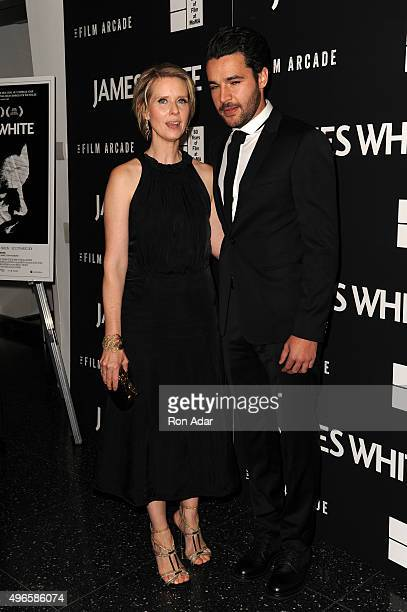 Actors Cynthia Nixon and Christopher Abbott attend the 'James White' New York Premiere at Museum of Modern Art on November 10 2015 in New York City