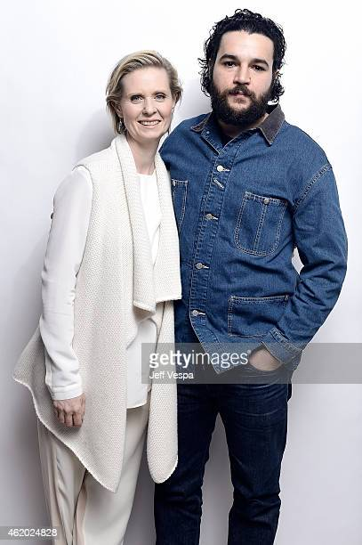 Actors Cynthia Nixon and Christopher Abbott from 'James White' pose for a portrait at the Village at the Lift Presented by McDonald's McCafe during...