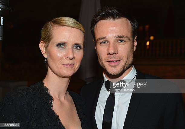 Actors Cynthia Nixon and Rupert Evans attend the screening of 'World Without End' after party presented by ReelzChannel at La Piazza on October 2...