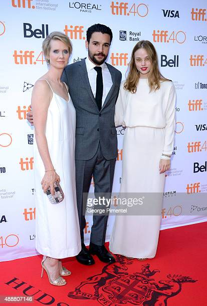 Actors Cynthia Nixon Christopher Abbott and Makenzie Leigh attend the James White photo call during the 2015 Toronto International Film Festival at...