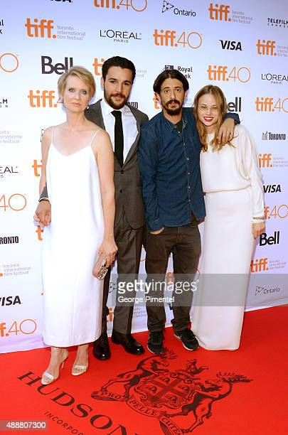 Actors Cynthia Nixon Christopher Abbott Director Josh Mond and actress Makenzie Leigh attend the James White photo call during the 2015 Toronto...