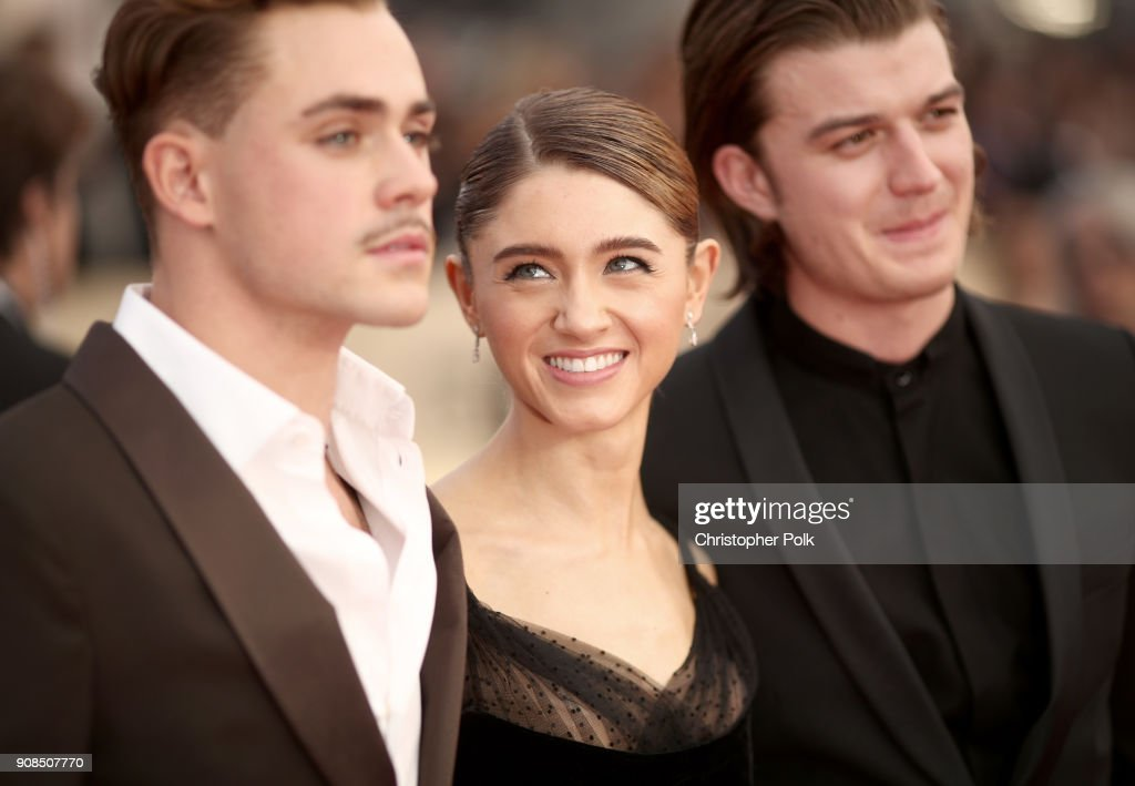 Actors Dacre Montgomery Natalia Dyer And Joe Keery Attend The 24th