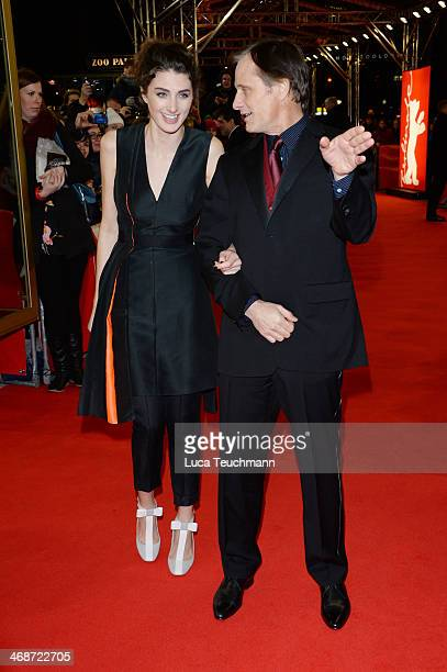 Actors Daisy Bevan and Viggo Mortensen attend 'The Two Faces of January' premiere during 64th Berlinale International Film Festival at Zoo Palast on...