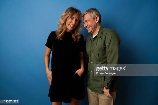"""Actors Daisy Haggard and Martin Freeman of FX's """"Breeders"""" pose for a portrait during the 2020 Winter TCA at The Langham Huntington, Pasadena on..."""