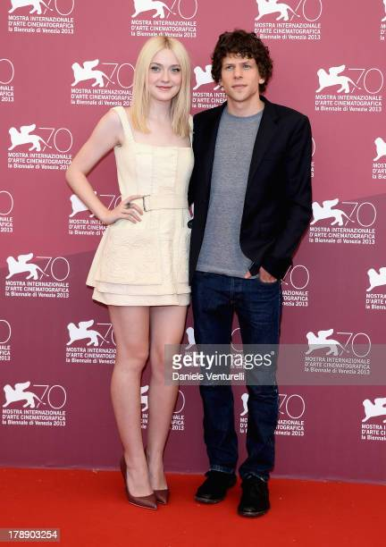 Actors Dakota Fanning and Jesse Eisenberg attend 'Night Moves' Photocall during the 70th Venice International Film Festival at Palazzo del Casino on...
