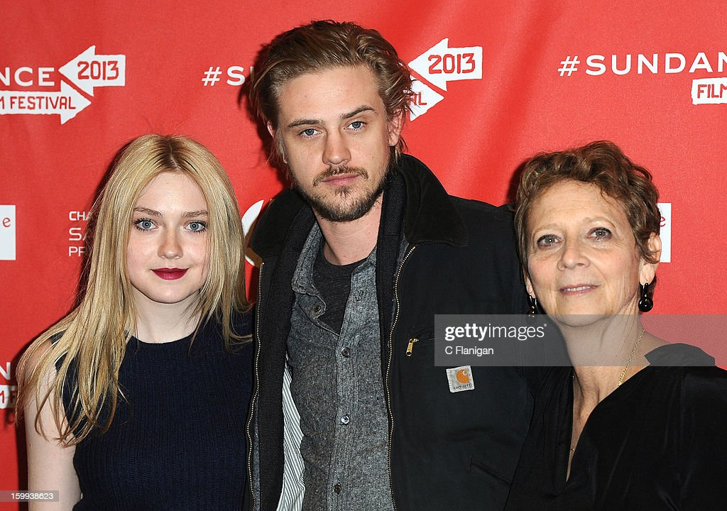 Actors Dakota Fanning, Boyd Holbrook and director Naomi Foner attend the 'Very Good Girls' premiere at Eccles Center Theatre during the 2013 Sundance Film Festival on January 22, 2013 in Park City, Utah.